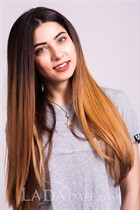 Russian girl online valentina from kremencuk with Dark Brown hair age 21