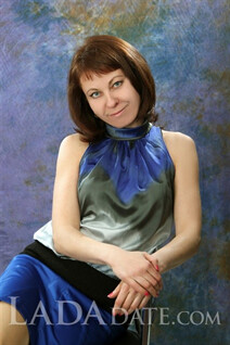 Russian mail order bride catalog elena from vinnitsa with Dark Brown hair age 45
