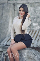 Ukraine romance tours with anna from nikolaev with Dark Brown hair age 27