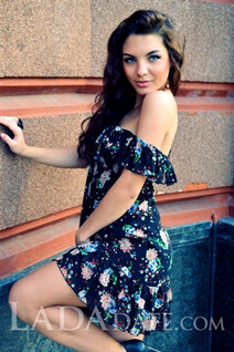 Russian mail order bride catalog alisa from lugansk with Dark Brown hair age 28