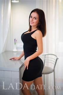 Ukriane bride ekaterina from dnepr with Black hair age 21