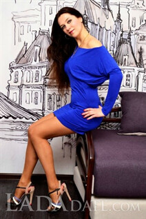 Russian bride tours with liana from poltava with Dark Brown hair age 42