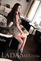 Russian bride tours with karina from poltava with Black hair age 25