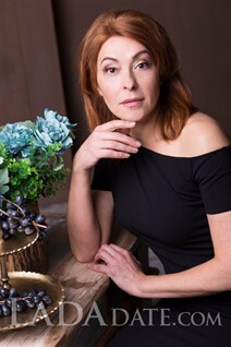 Ukrainian women for marriage natalia from saint-petersburg with Dark Brown hair age 53