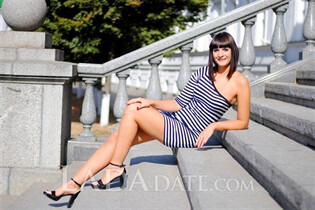 Oriental women for marriage inna from poltava with Black hair age 35