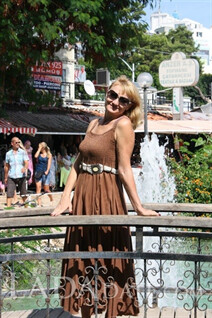 Address Russian single woman elena from zaporozhye with Blonde hair age 53