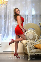Beautiful in ukrainian tatiana from kharkov with Light Brown hair age 35